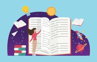 World Literacy Festivity vector