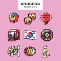 Chuseok Icon Set vector