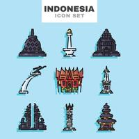 Indonesia Icon Set vector
