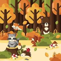 Magical Autumn Forest vector