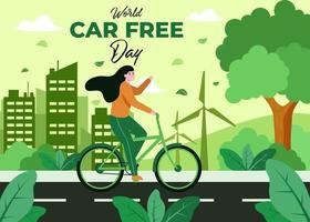 Campaign to reduce the use of cars to reduce the pollution of the world. vector