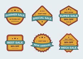 Set of badge or logo design element collection vector