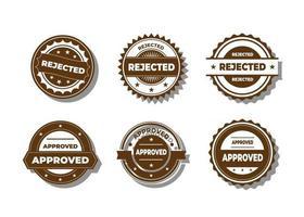 Set of badge or logo banner design element collection vector
