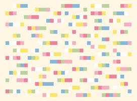 Small squares are connected to each other to form a color bar. Simple pattern design template. vector