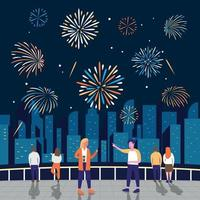 Firework Show Celebration vector