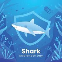 campaña de activismo salva el tiburón vector
