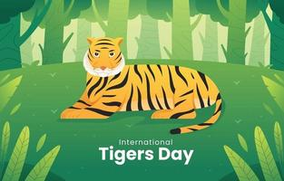 Tiger Day Activism vector