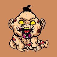 Baby Zombie Illustration vector