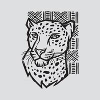 Hand Drawn Cheetah Illustration vector
