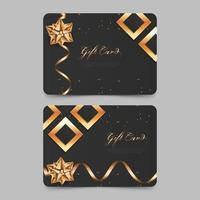 elegante diseño de vale de regalo con estilo dorado. tarjeta de regalo de lujo para promoción. vector