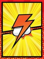 abstract comic book pop art cartoon background vector