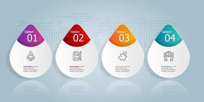 horizontal infographic presentation element template vector