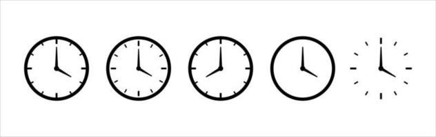 clock logo icon, clock vector