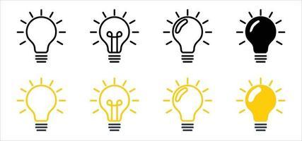 light bulb vector, bulb light icon, bulb light vector