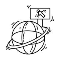 E-commerce website. hand drawn icon set, outline black, doodle icon, vector icon