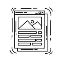 icono de la interfaz de comercio electrónico. conjunto de iconos dibujados a mano, contorno negro, icono de doodle, icono de vector