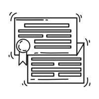 E-commerce license. hand drawn icon set, outline black, doodle icon, vector icon