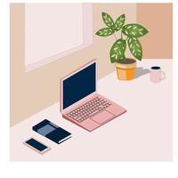 Isometric Desktop Background vector