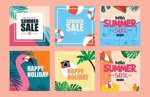 Summer vibe web design Vector template