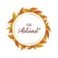 hello autumn background banner vector