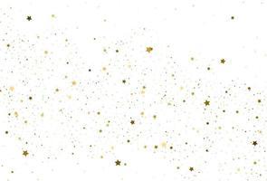 Light gold glitter confetti background Golden stars vector
