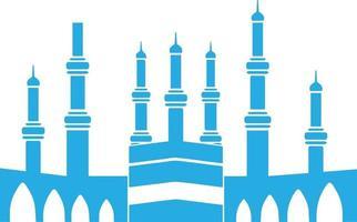 Vector design of muslim people doing hajj in mecca
