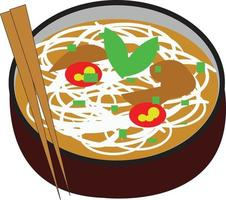 Vietnamese traditional food vector design with local taste