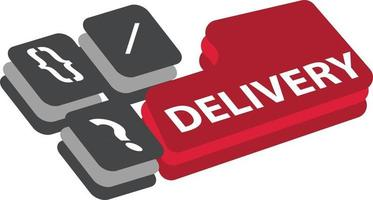 Package delivery vector design, online shopping in the pandemic era
