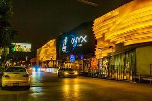 Colorful lights and nightlife at Onyx bar in Bangkok, Thailand, 2018 photo