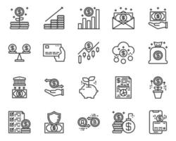Money management icon and symbol for website, application vector