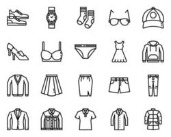 Clothing outline icon and symbol for website, application vector
