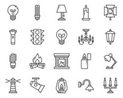 Lighting outline icon and symbol for website, application vector