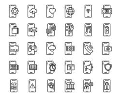 Mobile Application outline icon and symbol for website, application vector