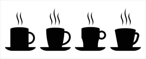cup logo set, cup icon set vector