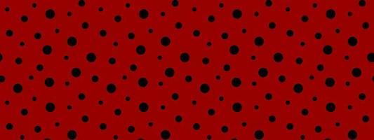 mariquita de patrones sin fisuras. lunares negros sobre fondo rojo. diseño retro para papel de scrapbooking, tela, papel tapiz vector