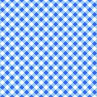 Diagonal blue and white gingham seamless pattern. Checkered texture for picnic blanket, table cloth, plaid, clothes. Italian style overlay, fabric geometric background vector
