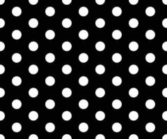 black and white polka dot pattern abstract background vector