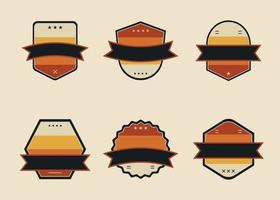 Set of blank badge or logo design element collection vector