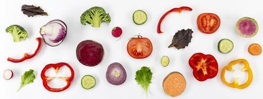 concepto de alimentación saludable vista superior foto