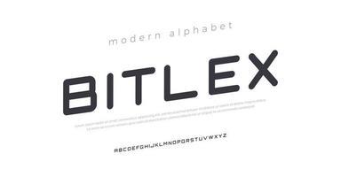 futura fuente de alfabeto cursiva moderna. tipografía fuentes de estilo urbano para deporte, tecnología, digital, diseño de logotipos de películas vector