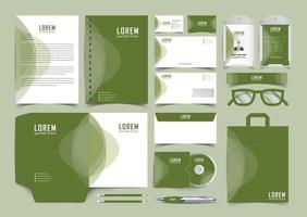 Creative Stationery template with element design vector