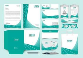 Corporate Green Identity Set. Stationery Template Design Kit. Branding Template Editable Brand Identity pack vector