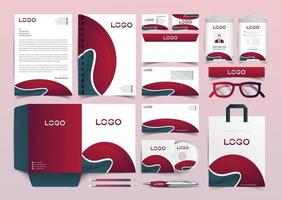 corporate identity template with digital elements. Vector company style for brand book and guideline. EPS 10