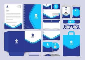 Classic full stationery template design. Documentation for business vector