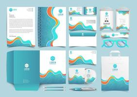 Blue and yellow Corporate Identity Set. Stationery Template Design Kit. Branding Template Editable Brand Identity pack vector