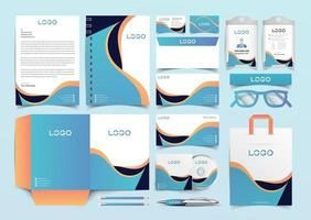 corporate stationery template design vector