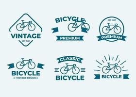 conjunto de colección de elementos de diseño de insignia o logotipo vector