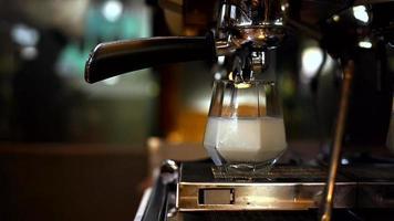 gros plan, de, café glacé video