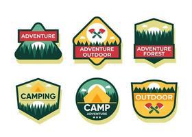 Set of badge or logo design element collection flat vector