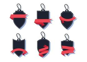 Set of blank banner or label design element collection vector